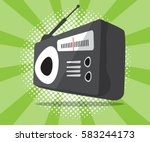 abstract radio icon with half... | Shutterstock .eps vector #583244173