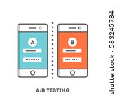 a b testing in software and app ... | Shutterstock .eps vector #583245784