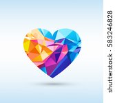multi colored heart icon.... | Shutterstock .eps vector #583246828