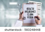 health insurance claim form  ... | Shutterstock . vector #583248448