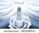 attractive perfume ads  blue... | Shutterstock .eps vector #583248976