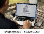 governance and  building ... | Shutterstock . vector #583250650