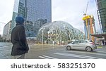 seattle  washington   february... | Shutterstock . vector #583251370