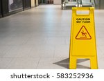 Wet Floor Caution Sign On...