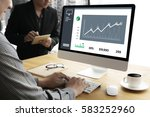 business man sales increase... | Shutterstock . vector #583252960
