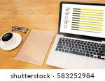 businessman  survey and ... | Shutterstock . vector #583252984