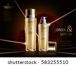 rose lotion and toner ads ... | Shutterstock .eps vector #583255510