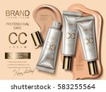 professional cc cream ads ... | Shutterstock .eps vector #583255564