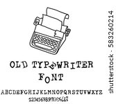 vector old typewriter font.... | Shutterstock .eps vector #583260214