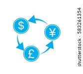 exchange money on white...   Shutterstock .eps vector #583261354