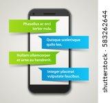 realistic vector smartphone... | Shutterstock .eps vector #583262644