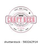 craft beer label template in... | Shutterstock .eps vector #583262914