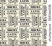 seamless pattern with text | Shutterstock .eps vector #583266208