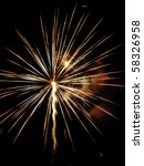 large burst of fireworks with... | Shutterstock . vector #58326958