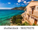 beautiful sea view of the bay... | Shutterstock . vector #583270270