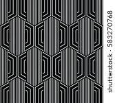 black and white pattern... | Shutterstock .eps vector #583270768