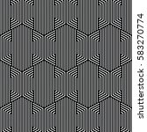 black and white pattern... | Shutterstock .eps vector #583270774