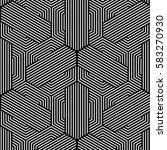 black and white pattern... | Shutterstock .eps vector #583270930