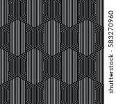 black and white pattern... | Shutterstock .eps vector #583270960