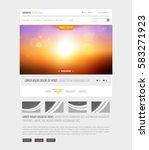 sunset website vector template
