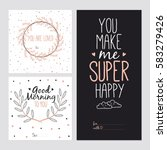 hand drawn typography design.... | Shutterstock .eps vector #583279426