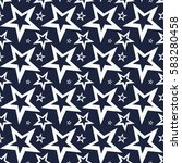 vector seamless pattern of star.... | Shutterstock .eps vector #583280458