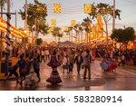 seville  spain   apr  25 ... | Shutterstock . vector #583280914