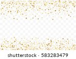 confetti cover from gold stars. ... | Shutterstock .eps vector #583283479