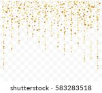 confetti cover from gold stars. ... | Shutterstock .eps vector #583283518