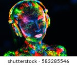 concept. on the body of a girl...   Shutterstock . vector #583285546