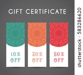 ornamental discount coupon.... | Shutterstock .eps vector #583286620