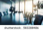 conference table and chairs in... | Shutterstock . vector #583288486