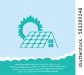 solar collector  icon. vector... | Shutterstock .eps vector #583289248
