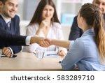 job applicant having interview...   Shutterstock . vector #583289710