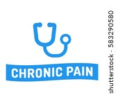 chronic pain. ribbon with... | Shutterstock .eps vector #583290580