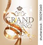 grand opening elegant banner... | Shutterstock .eps vector #583291660