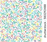 set of postmodern patterns...   Shutterstock .eps vector #583292488