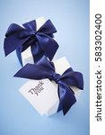 gift boxes with word thank you | Shutterstock . vector #583302400
