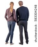 back view of young couple  man... | Shutterstock . vector #583304248