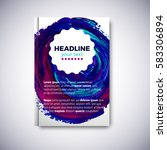 abstract brochure design with... | Shutterstock .eps vector #583306894
