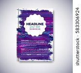 abstract brochure design with... | Shutterstock .eps vector #583306924