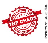 welcome to the chaos stamp.... | Shutterstock .eps vector #583310488