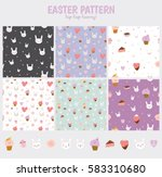 cute seamless pattern with... | Shutterstock .eps vector #583310680