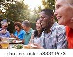group of mature friends... | Shutterstock . vector #583311973