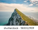 View Of Rock In Gibraltar With...