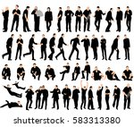 vector isolated silhouettes... | Shutterstock .eps vector #583313380