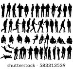 isolated silhouettes... | Shutterstock .eps vector #583313539