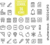 school and education icons... | Shutterstock .eps vector #583314193