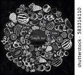 vector sketch of fruit | Shutterstock .eps vector #583316110