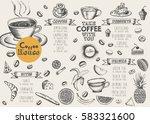 coffee menu | Shutterstock .eps vector #583321600